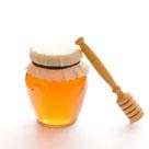 Bladerdeeghapjes met honing